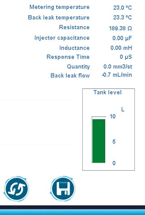 Информация об уровне жидкости в сливном баке